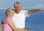 Middle Age Couple on Beach